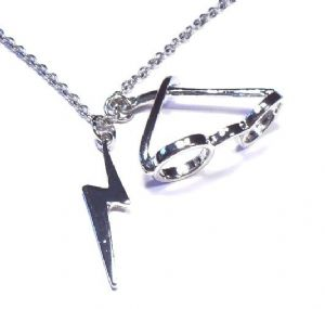 Harry Potter Glasses and Lightning necklace, prop replica